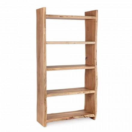 Moderne boekenkast in acaciahout met 5 planken Homemotion - Lauro