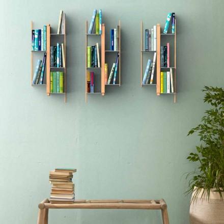 Bibliotheek modern ontwerp van Zia Veronica Muur