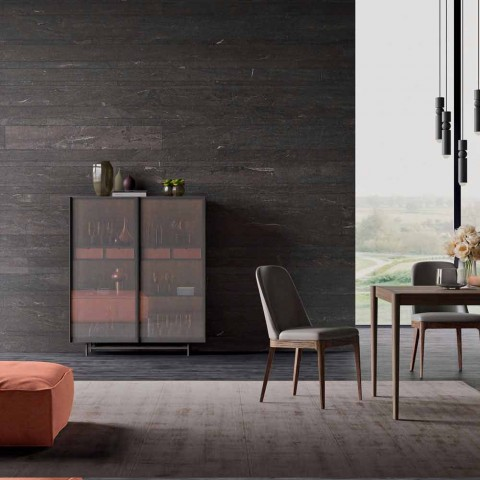 2-deurs dressoir in ecologisch hout en metaal design woonkamer of entree - Aaron