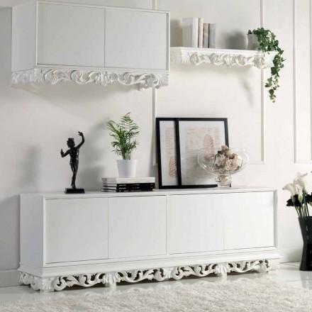 ontwerpen houten dressoir met 4 Sportelli Ray, made in Italy