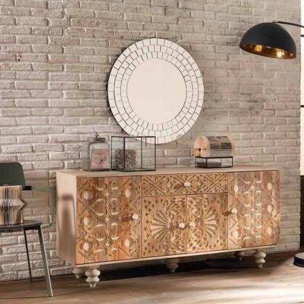 Etnisch design dressoir van geschilderd mangohout, Centola