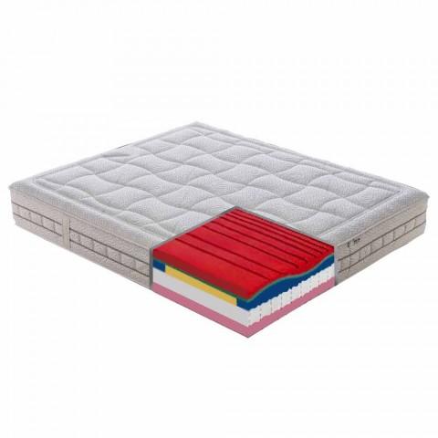 25 cm dubbel matras van hoge kwaliteit, gemaakt in Italië - platina