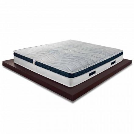 Vierkante en middelhoge matras 22 cm in luxe Memory Made in Italy - Duran
