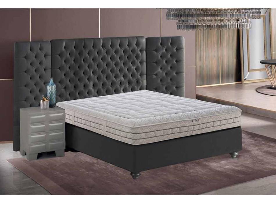 Anderhalve matras in luxe geheugen H 25 cm Gemaakt in Italië - Platina