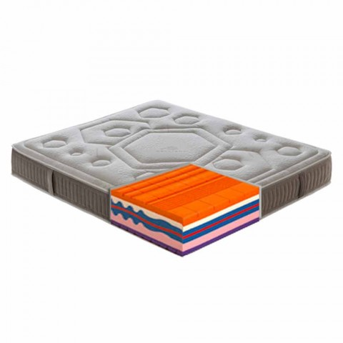 Anderhalve matras in Memory Vitaminic H 25cm Made in Italy - Orange