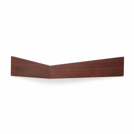 Design wandplank in multiplex en metaal met kapstok - Berema