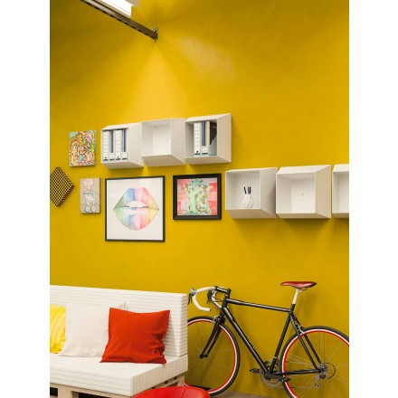 Moderne muurschildering plank van design in wit polypropyleen - Concy