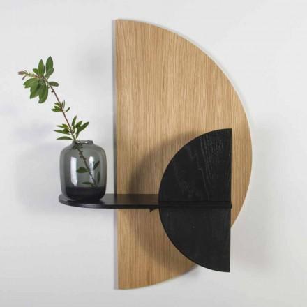 Modern design modulaire plank in eiken en zwart geverfd multiplex - Arabië