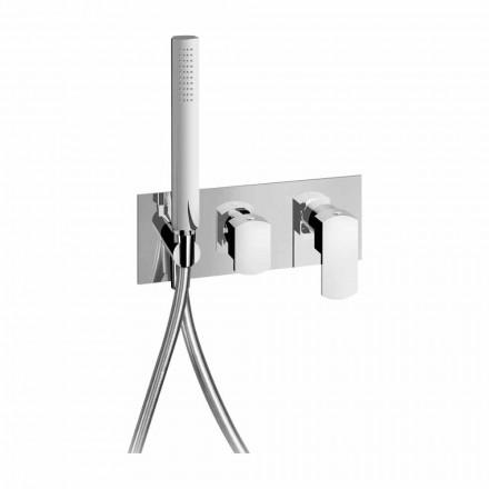 Modern design ingebouwde douchemengkraan in messing Made in Italy - Sika