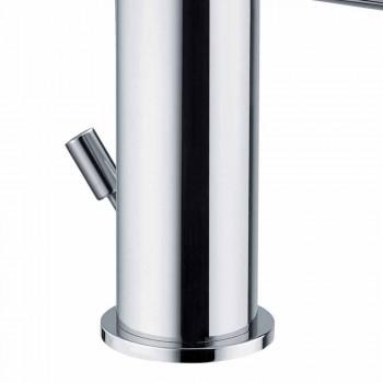 Badkamer Wastafelmengkraan in Verchroomd Messing Modern Design Gemaakt in Itlay - Liro