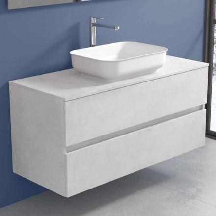 Hangend badkamermeubel met designwastafel in 4 afwerkingen - Paoletto