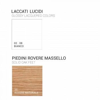 Badkamermeubel met wastafel in gelakt hout 120x85x46cm Amber, made in Italy