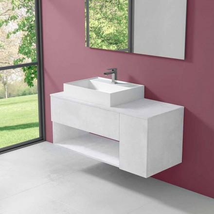 Hangend design badkamermeubel met wastafel in moderne stijl - Pistillo