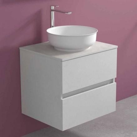 Hangend badkamermeubel met ronde wastafel, modern design - Dumbo