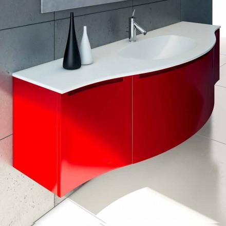 Hangende badkamerkast met geïntegreerde spoelbak, 1cestone + 2ante Gioia