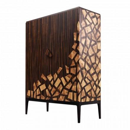 Grilli Zarafa 2-deurs design barkast gemaakt in Italië in ebbenhout