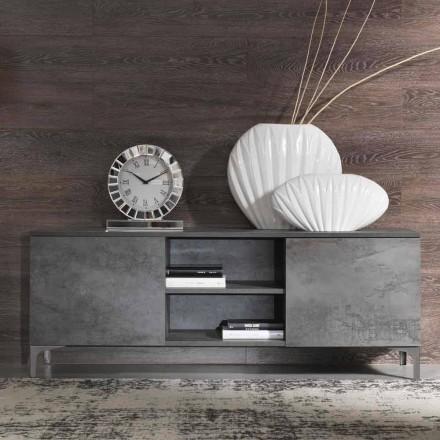 Moderne tv-kast Melamine hout twee deuren Made in Italy - Clemente