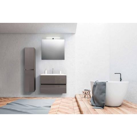 Zwevende badkamermeubels in Mdf gelakt Made in Italy - Becky