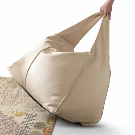My Home Bag-poef in modern design gemaakt in Italië leer