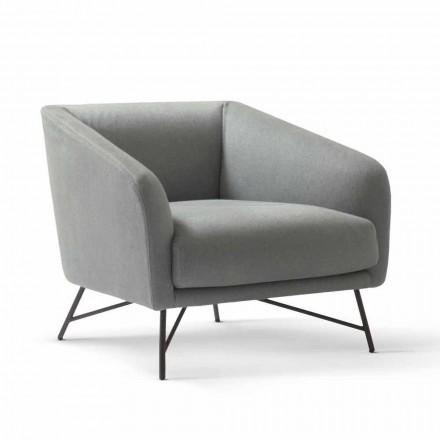 My Home Betty stoffen design fauteuil gemaakt in Italië