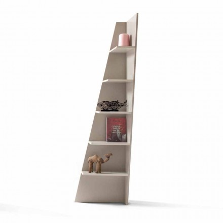 My Home Esquina design hoek boekenkast MDF gelakt H220cm gemaakt in Italië