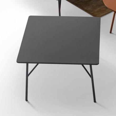 My Home Mek salontafel MDF antraciet grijs ontwerp L79xH39cm gemaakt in Italië