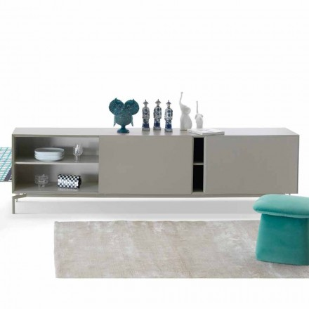 My Home Mirage design dressoir van gelakt MDF H71xL210cm gemaakt in Italië