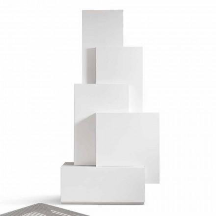 My Home Tetris mobiele woonkamer torenontwerp MDF H196cm gemaakt in Italië