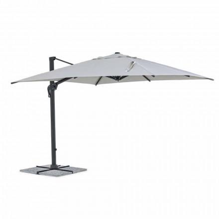 Outdoorparaplu, 3x3 met lichtgrijze stof en antracietkleurige structuur - Dalton