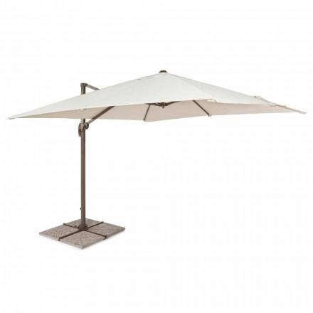 Outdoor paraplu, 3x3 met polyester doek en aluminium paal - Texas