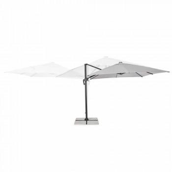 3x3 Outdoor Paraplu in Grijs Polyester en Antraciet Kleur Aluminium - Coby