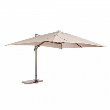 Outdoor parasol, 3x4 met zandkleurige polyesterdoek - Flamingo