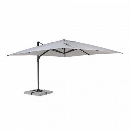 Buitenparaplu 4x4 in lichtgrijs polyester en aluminium - Daniel