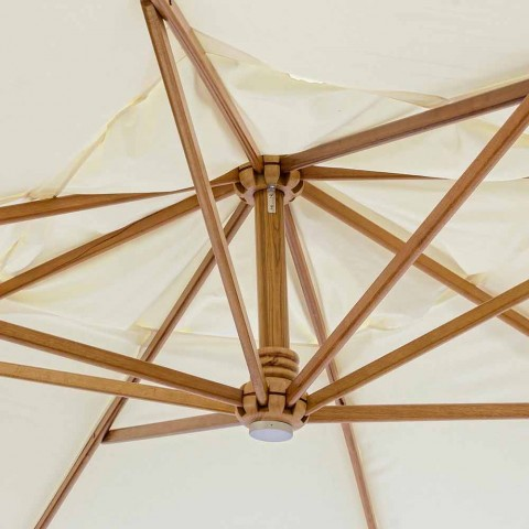 Ecrù Colour Outdoor parasol in polyester en hout 3x4 Homemotion - Passmore