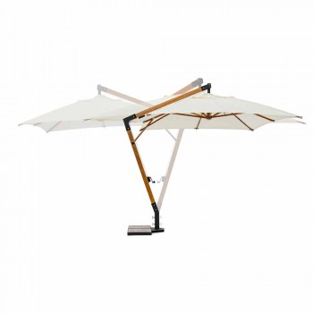 Ecrù Colour Outdoor parasol in polyester en hout 3x4 Homemotion - Passmore