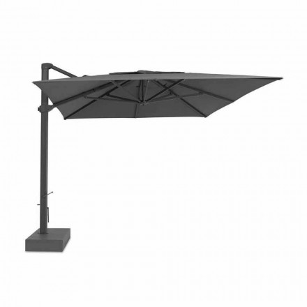 Outdoorparaplu, 3x4 mt met luxe stoffen hoes - Athena by Talenti