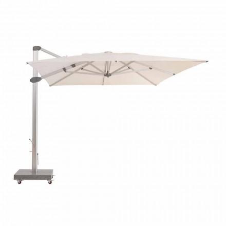 3x4 waterafstotende parasol met aluminium paal - Zeus van Talenti