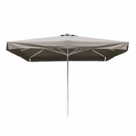 Outdoor stoffen paraplu met metalen structuur Made in Italy - Solero