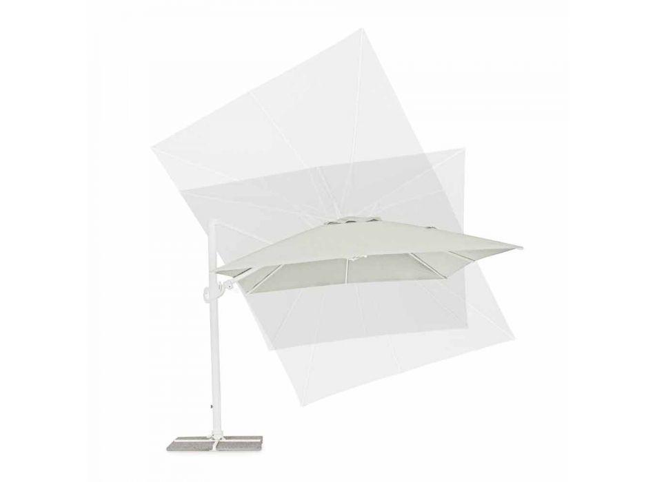 3x4 aluminium tuinparaplu met polyester stof - Fasma