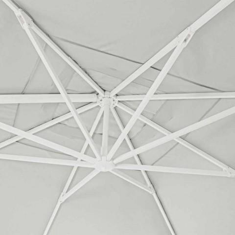 4x4 tuinparaplu met natuurlijke kleur polyester - Fasma