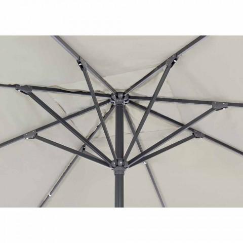 4x4 tuinparaplu met polyester doek en stalen voet - Nastio