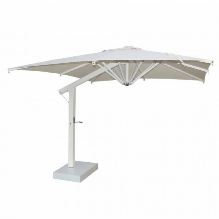 Tuinparasol 300x200 cm in wit of antraciet aluminium - Lapillo