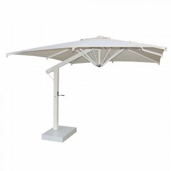 Aluminium paraplu met witte of antracietkleurige arm 350x350 cm - Lapillo