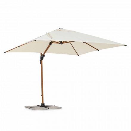 Outdoorparaplu, 3x3 in aluminium met beige polyester hoes - Leano