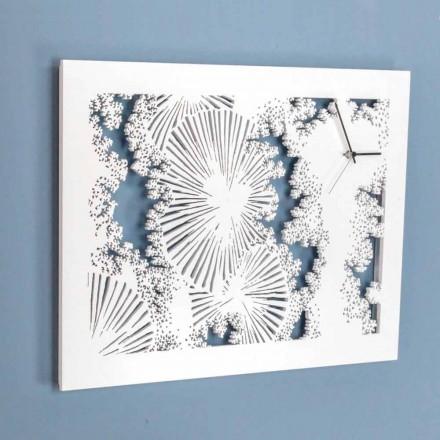 Design wandklok in wit hout of rechthoekige duif - Artificio