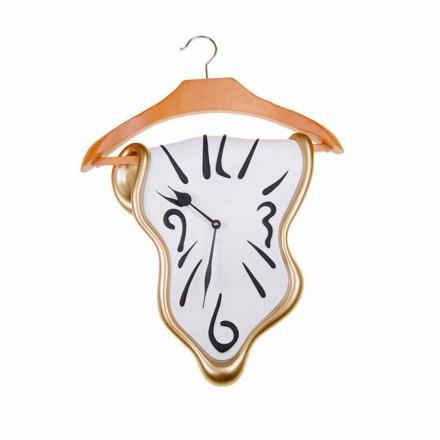 Design wandklok in handgeschilderde hars Made in Italy - Mailo