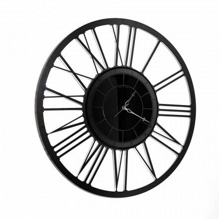 Modern design ijzeren spiegel wandklok Made in Italy - Gioele