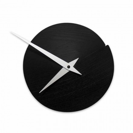 Ronde wandklok Diameter 19,5 cm in hout Made in Italy - Cratere