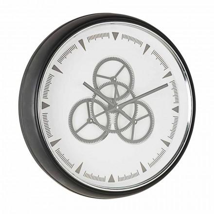 Wandklok Diameter 50 cm in staal en glas Homemotion - Severio