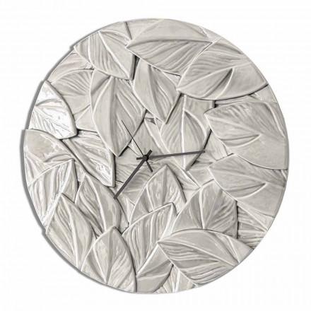 Ronde moderne design keramische wandklok gemaakt in Italië - Fogliao